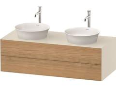 Mobile lavabo doppio sospeso in legno con cassettiWHITE TULIP WT4988 | Mobile lavabo doppio - DURAVIT