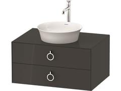 Mobile lavabo singolo sospeso in legno con cassettiWHITE TULIP WT4990 / WT4991 | Mobile lavabo con cassetti - DURAVIT