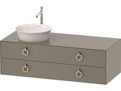 Mobile lavabo singolo sospeso in legno con cassettiWHITE TULIP WT4992 | Mobile lavabo con cassetti - DURAVIT