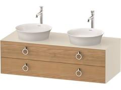 Mobile lavabo doppio sospeso in legno con cassettiWHITE TULIP WT4993 | Mobile lavabo doppio - DURAVIT