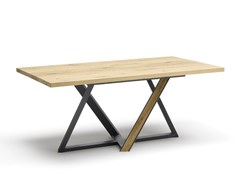 Tavolo da pranzo rettangolare in acciaio e legnoWIEN | Tavolo - ALTA CORTE