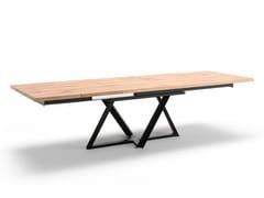 Tavolo allungabile da pranzo rettangolare in acciaio e legnoWIEN | Tavolo allungabile - ALTA CORTE