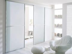 Porta scorrevole in vetro satinato WIND | Porta in vetro satinato - Aluminium Chic