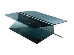 Tavolino basso rettangolare in vetroWING | Tavolino rettangolare - ROCHE BOBOIS