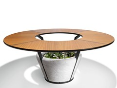 Tavolo rotondo in marmo e irokoWING | Tavolo - VISIONNAIRE BY IPE