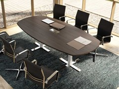 Tavolo da riunione in nobilitato con sistema passacaviWINGLET | Tavolo da riunione in nobilitato - BRALCO