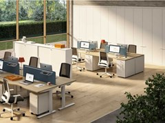 Mobile ufficio alto in nobilitato con ante a battenteWINGLET | Mobile ufficio - BRALCO