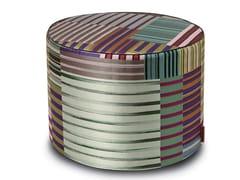 Pouf cilindro in tessuto jacquard WINSLOW   Pouf - Stripes Mosaic