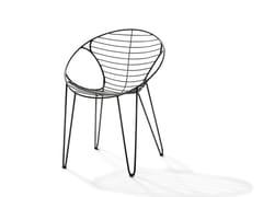 Sedia impilabile in acciaio inox WIRE | Sedia - Wire
