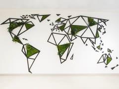 Cartina geografica in muschio e piante stabilizzateWIRE WORLD - GREENAREA