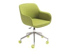Sedia ufficio ad altezza regolabile in tessuto a 5 razze con braccioliWISCONSIN | Sedia ufficio con ruote - AP FACTOR