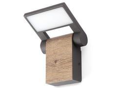 Lampada da parete per esterno a LED orientabile in alluminioWOOD LED - LOREFAL