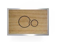 Placca di comando per wc in legnoWOOD P2LQ706 - REDI