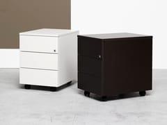 Cassettiera ufficio in legno con ruoteUNIBOX | Cassettiera ufficio in legno - MANERBA
