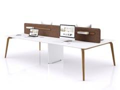 Scrivania in legno con pannelli divisori fonoassorbentiWOODLEG | Scrivania con pannelli divisori fonoassorbenti - CIDER