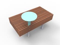 Panchina modulare senza schienale WOODY SMART | Panchina senza schienale -