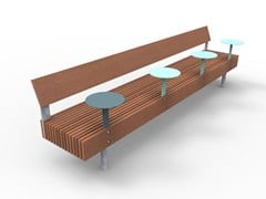 Panchina modulare con schienale WOODY SMART | Panchina con schienale -