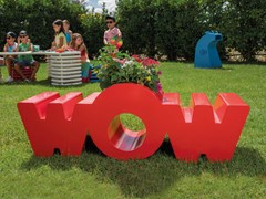 Panchina per bambini con fioriera in acciaio zincatoWOW - DIMCAR