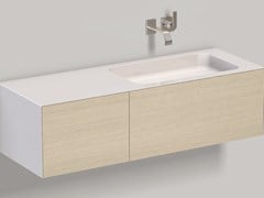 MOBILE LAVABO SOSPESO IN LAMINATO WP.FOLIO10 BRUSHED OAK - ALAPE