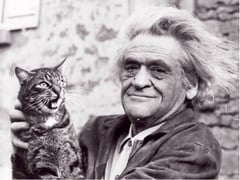 Stampa fotografica WRITER JOSEPH KESSEL AND HIS CAT - ARTPHOTOLIMITED