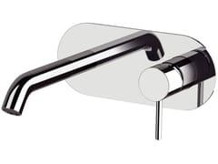 Miscelatore per lavabo a muro monocomando con piastra X STYLE | Miscelatore per lavabo a muro - X Style