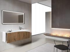 Mobile lavabo sospeso con specchioXFLY 14 - BMT