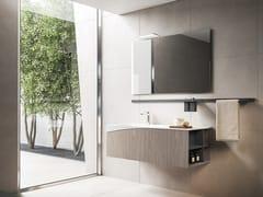 Mobile lavabo sospeso con specchioXFLY 16 - BMT