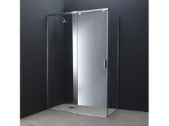 Box doccia angolare in acciaio e vetro con porta scorrevoleY12 | Box doccia angolare - AISI DESIGN