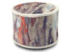 Pouf cilindro in pelliccia stampataYANGON | Pouf - MHOME
