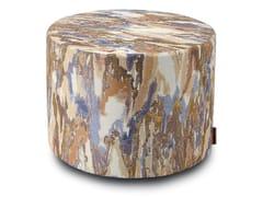 Pouf cilindro in tessuto jacquardYASOTHON | Pouf - MHOME