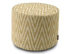 Pouf cilindro in tessuto jacquardYLAN | Pouf - MHOME