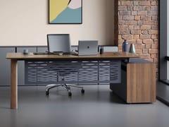 Scrivania direzionale rettangolare in legno con cassettiYOKA | Scrivania direzionale - ERSA MOBILYA