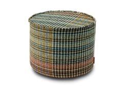 Pouf cilindro in tessuto a patch di motivi scozzesiYORKSHIRE | Pouf - MHOME