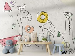 Carta da parati lavabile in tessuto non tessuto per bambiniYOSHI - WALLYART
