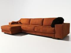 Divano componibile in nabuk con chaise longueYOU GLAM | Divano con chaise longue - MANTELLASSI DESIGN