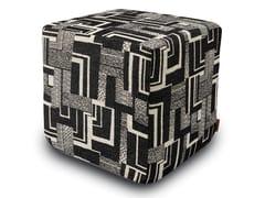 Pouf cubo in tessuto jacquard doubleYOUGHAL | Pouf - MHOME