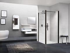Box doccia angolare con porta a battenteYOUNG | 1B + YOUNG 2.0 F1B - NOVELLINI