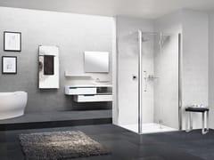 Box doccia angolare con porta a soffiettoYOUNG | 1BS + YOUNG 2.0 F1B - NOVELLINI