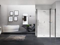 Box doccia angolare con porta a battenteYOUNG | 2P+FL + YOUNG F1B - NOVELLINI