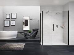 Box doccia angolare con porta a battenteYOUNG | G+F IN LINEA + YOUNG 2.0 F1B - NOVELLINI