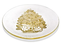 Piatto piano rotondo in vetro decoratoZ H&T FROM LAPLAND WITH LOVE | Piatto in vetro - INDUSTRIA VETRARIA VALDARNESE