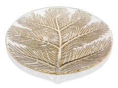 Piatto piano rotondo in vetro decoratoZ H&T FROM LAPLAND WITH LOVE | Piatto in vetro decorato - INDUSTRIA VETRARIA VALDARNESE
