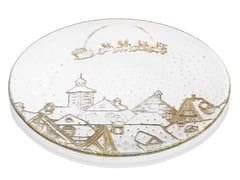 Piatto rotondo in vetro decoratoZ H&T FROM LAPLAND WITH LOVE | Piatto - INDUSTRIA VETRARIA VALDARNESE