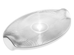 Vassoio ovale in vetro decoratoZ H&T ISHTAR | Vassoio - INDUSTRIA VETRARIA VALDARNESE