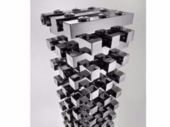 Termoarredo cromato modulare a pavimento ZANZIBAR | Termoarredo a pavimento -