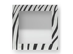 Specchio quadrato da parete con cornice ZEBRA COLD | Specchio - DOLCEVITA ANIMALIER