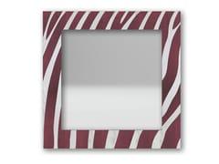 Specchio quadrato da parete con cornice ZEBRA COLORS | Specchio - DOLCEVITA ANIMALIER