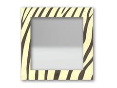 Specchio quadrato da parete con cornice ZEBRA WARM | Specchio - DOLCEVITA ANIMALIER