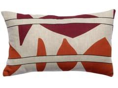 Cuscino rettangolare in lino a motivi geometriciZEFF MILA | Cuscino rettangolare - VIVARAISE