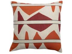 Cuscino quadrato in lino a motivi geometriciZEFF MILA | Cuscino quadrato - VIVARAISE